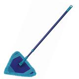 Швабра для уборки, ручка телескопическая 75-130 см, флаундер треугольный, МОП микрофибра, «Bermuda», YORK
