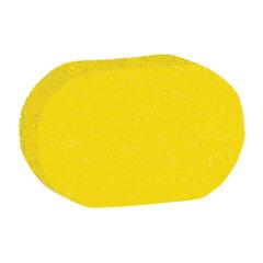 Мочалка губка, поролон, 9 г (4×9,5×14 см), желтая, «Овал», TIAMO «Original»