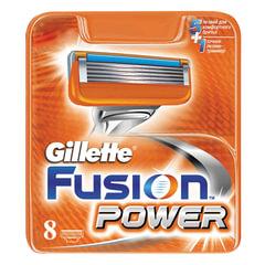 Сменные кассеты для бритья GILLETTE (Жиллет) «Fusion Power», 8 шт., для мужчин
