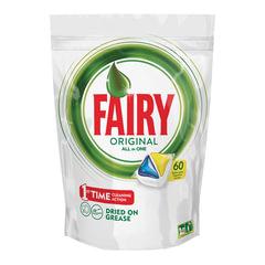 Средство для мытья посуды в посудомоечных машинах, 60 шт., FAIRY (Фейри) «All in 1», «Лимон», капсулы