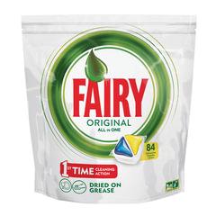 Средство для мытья посуды в посудомоечных машинах, 84 шт., FAIRY (Фейри) «All in 1», «Лимон», капсулы