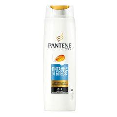 Шампунь+бальзам-ополаскиватель 400 мл, PANTENE (Пантин) «Питание и блеск», для нормальных волос