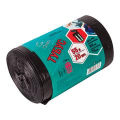 Мешки для мусора 55 л, комплект 20 шт., ПВД, 45×100 см, 25 мкм, для урн d — 28 см, h — 76 см, черные, КБ «Tubus»