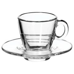 Набор кофейный на 6 персон (6 чашек объемом 72 мл, 6 блюдец), стекло, «Aqua», PASABAHCE