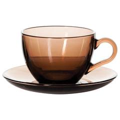 Набор чайный, на 6 персон (6 чашек объемом 238 мл, 6 блюдец), тонированное стекло, PASABAHCE