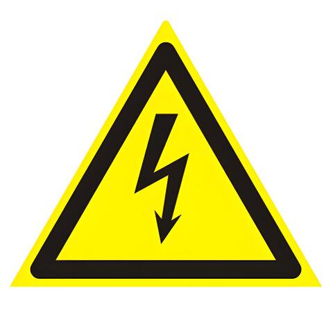 Знак предупреждающий «Опасность поражения электрическим током», треугольник, 200×200×200 мм