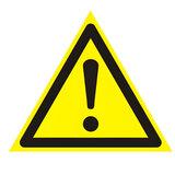 Знак предупреждающий «Внимание. Опасность (прочие опасности)», треугольник, 200×200×200 мм