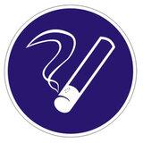 Знак предписывающий «Курить здесь», круг, диаметр 200 мм, самоклейка