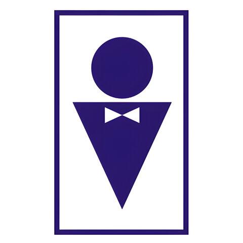 Знак вспомогательный «Туалет мужской», прямоугольник, 120×190 мм, самоклейка