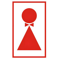 Знак вспомогательный «Туалет женский», прямоугольник, 120×190 мм, самоклейка