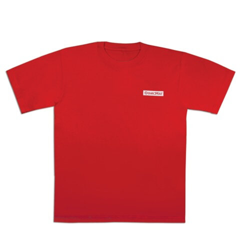 Футболка ОФИСМАГ, хлопок 100%, красная, р. 50-52 (XL)