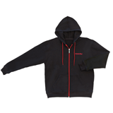 Толстовка ОФИСМАГ с капюшоном, на молнии, 2 кармана, хлопок 65% полиэстер 35%, черная, р. 48-50 (L)