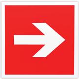 Знак пожарной безопасности «Направляющая стрелка», 200×200 мм, самоклейка, фотолюминесцентный