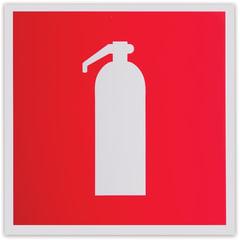 Знак пожарной безопасности «Огнетушитель», 200×200 мм, самоклейка, фотолюминесцентный