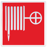 Знак пожарной безопасности «Пожарный кран», 200×200 мм, самоклейка, фотолюминесцентный