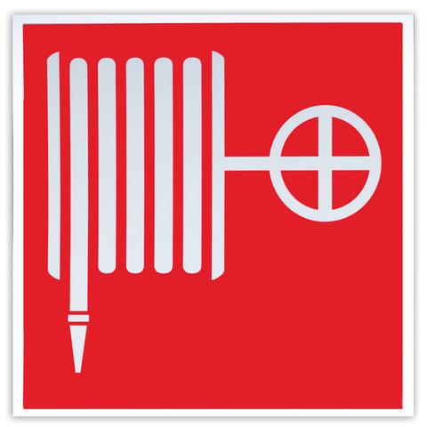 """Знак пожарной безопасности """"Пожарный кран"""", 200х200 мм, самоклейка, фотолюминесцентный"""