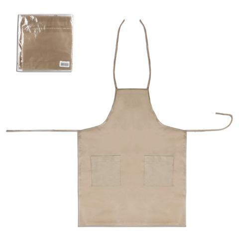 Фартук для художника, дизайнера, архитектора, спанбонд, 2 кармана, на завязках, бежевый, 70×90 см