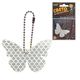 Брелок-подвеска светоотражающий «Бабочка белая», 60×40 мм