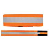 Повязка светоотражающая на руку, 430×55 мм, на липучке, оранжевая