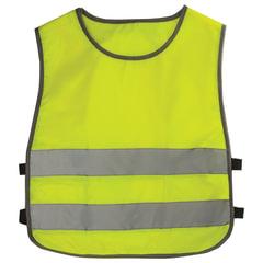 Жилет детский светоотражающий, размер 26-30, рост 92-116 см, 2-6 лет, ярко-зеленый (лимонный)
