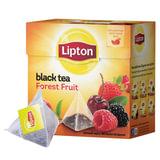 Чай LIPTON (Липтон) «Forest Fruit», черный с лесными ягодами, вишней и клубникой, 20 пирамидок по 2 г