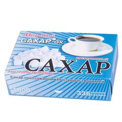 Сахар-рафинад 1кг (336 кусочков, размер 12×14×15 мм), картонная упаковка