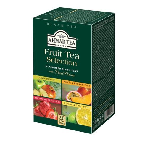 Чай AHMAD (Ахмад) «Fruit tea selection», фруктовая коллекция, ассорти, 20 пакетиков в конвертах по 2 г