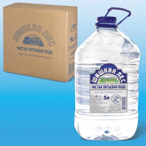 Вода негазированная питьевая «Шишкин лес», 5 л, пластиковая бутыль