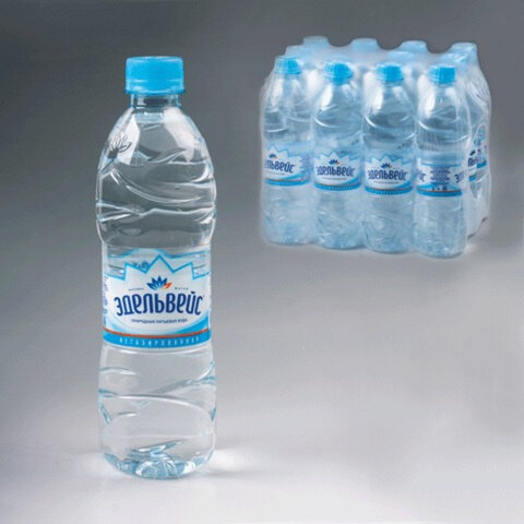 Вода негазированная питьевая ЭДЕЛЬВЕЙС «Натурель», 0,5 л, пластиковая бутылка