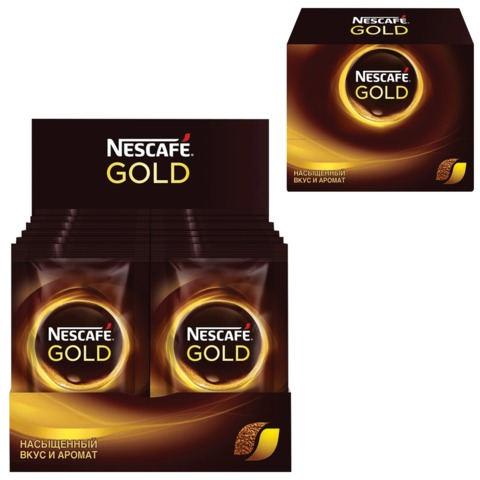 Кофе растворимый NESCAFE «Gold», сублимированный, 30 пакетов по 2 г (упаковка 60 г)