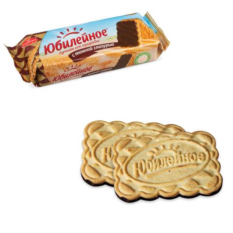 Печенье ЮБИЛЕЙНОЕ, с шоколадной глазурью, 116 г