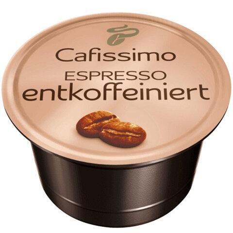 Капсулы для кофемашин TCHIBO Cafissimo Espresso Entkoffeiniert, натуральный кофе без кофеина, 10 шт. х 7,5 г