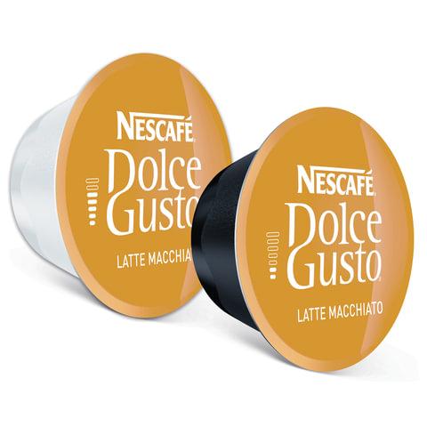 Капсулы для кофемашин NESCAFE Dolce Gusto Latte Machiato, натуральный кофе 8 шт. х 6,5 г, молочная капсула 8 шт. х 17,8 г
