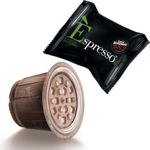 Капсулы для кофемашин VERGNANO Nespresso Espresso Lungo Intenso, натуральный кофе, 10 шт. х 5 г