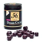 Шоколад LOTTE «Dream Cacao», горький (какао 56%), в кубиках, в пластиковой банке, 106 г