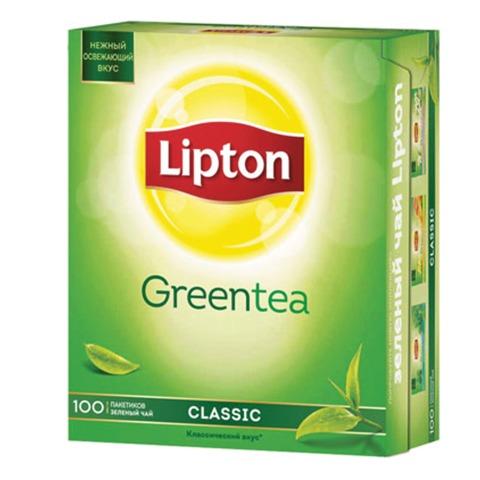 Чай LIPTON (Липтон) «Clear Green», зеленый, 100 пакетиков с ярлычками по 1,3 г