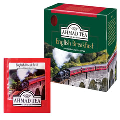 Чай AHMAD (Ахмад) «English Breakfast», черный, 100 пакетиков по 2 г