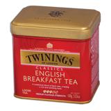 Чай TWININGS (Твайнингс) «English Breakfast», черный, железная банка, 100 г