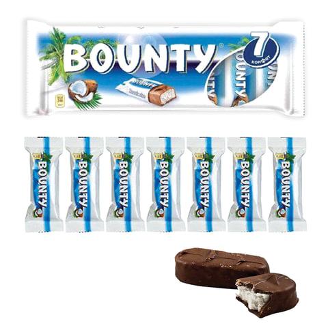 Шоколадные батончики BOUNTY, мультипак, 7 шт. по 27,5 г (192,5 г)