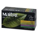 Чай MAITRE (Мэтр) «Классик», зеленый, ассорти (лимон/<wbr/>лайм/<wbr/>молочный улун/<wbr/>жасмин/<wbr/>мята), 25 пакетиков в конвертах по 2 г
