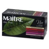 Чай MAITRE (Мэтр) «Чайный Букет», зеленый, ассорти (ванильная карамель/<wbr/>клубника/<wbr/>малина/<wbr/>каркаде/<wbr/>лотос), 25 пак. в конвертах по 2 г