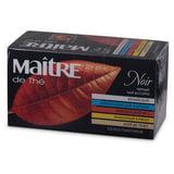 Чай MAITRE (Мэтр), черный, ассорти (кенийский/<wbr/>цейлонский/<wbr/>французский №1/<wbr/>лимонный бурбон/<wbr/>эрл грей), 25 пак. в конвертах по 2 г