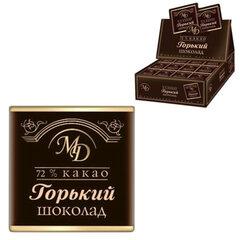 Шоколад порционный МОНЕТНЫЙ ДВОР, горький шоколад 72%, 200 плиток по 5 г, в шоубоксах (упаковка 1 кг)