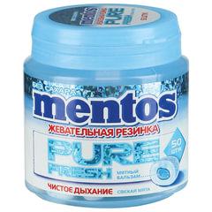 Жевательная резинка MENTOS Pure Fresh «Mint», без сахара, банка, 100 г