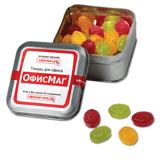 Конфеты-леденцы монпансье ОФИСМАГ, ассорти, железная банка, 100 г