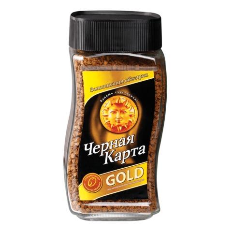 Кофе растворимый ЧЕРНАЯ КАРТА «Gold», сублимированный, 190 г, стеклянная банка