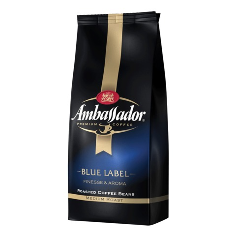 Кофе в зернах AMBASSADOR «Blue label», натуральный, 1000 г, вакуумная упаковка