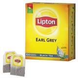 Чай LIPTON (Липтон) «Earl Grey», черный, 100 пакетиков с ярлычками по 2 г