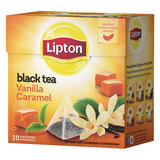 Чай LIPTON (Липтон) «Vanilla Caramel», черный с ванилью и карамелью, 20 пирамидок по 2 г