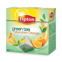 Чай LIPTON (Липтон) «Green Mandarin Orange», зеленый, 20 пирамидок по 2 г